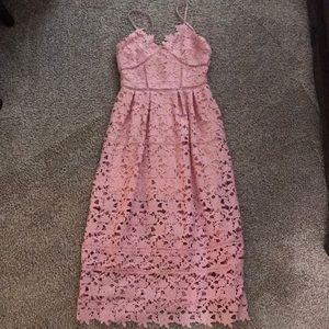 NWOT Goodnight Macaroon Midi Lace Dress